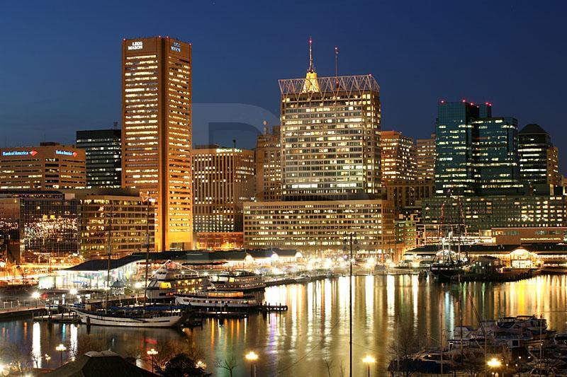 Baltimore Skyline At Twilight 3