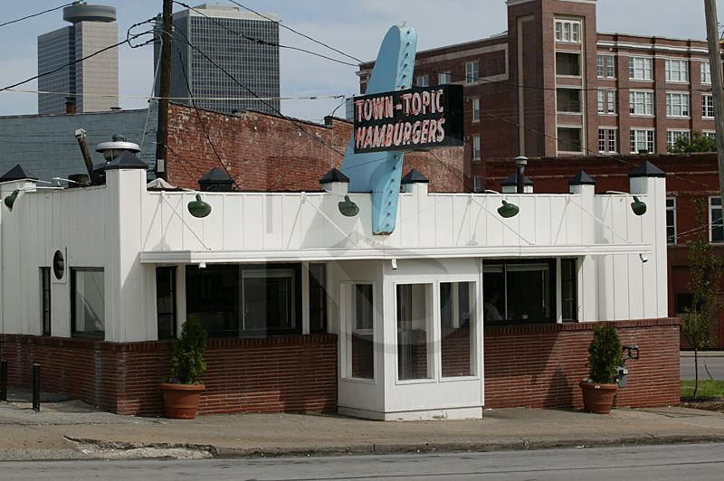 Town Topic Hamburgers, Exterior