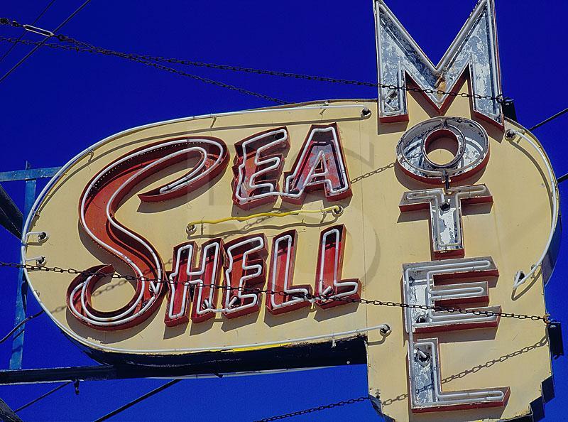 sea shell motel sign. Black Bedroom Furniture Sets. Home Design Ideas