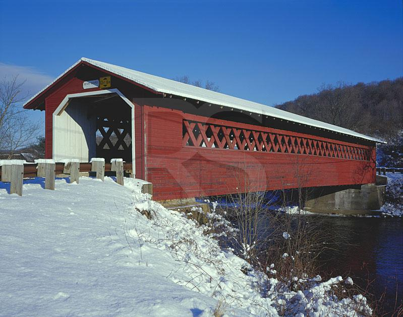 Henry Covered Bridge in Winter