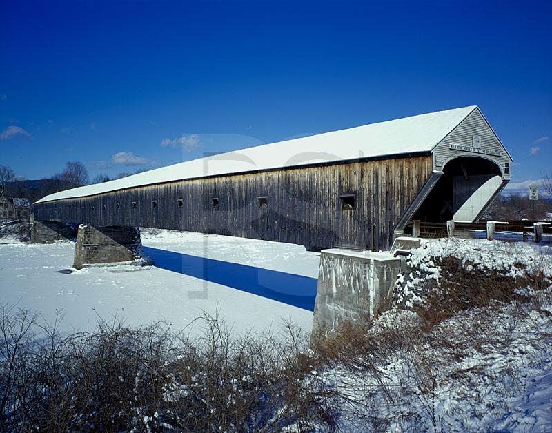 Windsor-Cornish Covered Bridge In Winter
