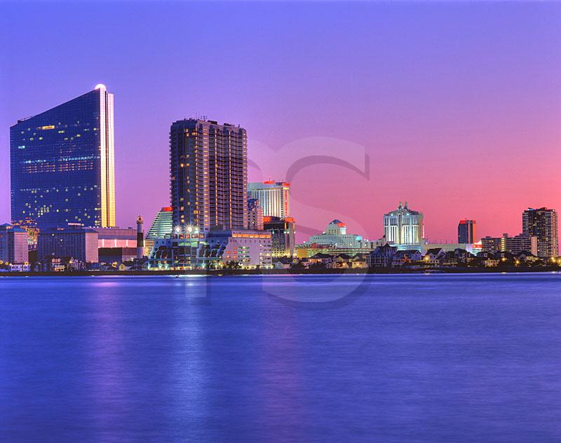 Atlantic City Skyline And Absecon Inlet