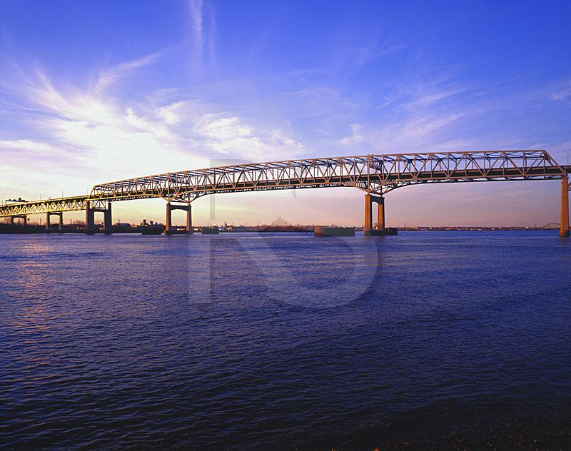 Betsy Ross Bridge At Sunset