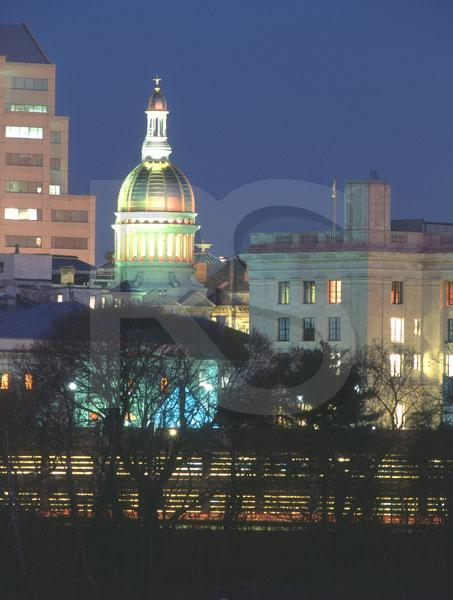 New Jersey State Capitol, At Night