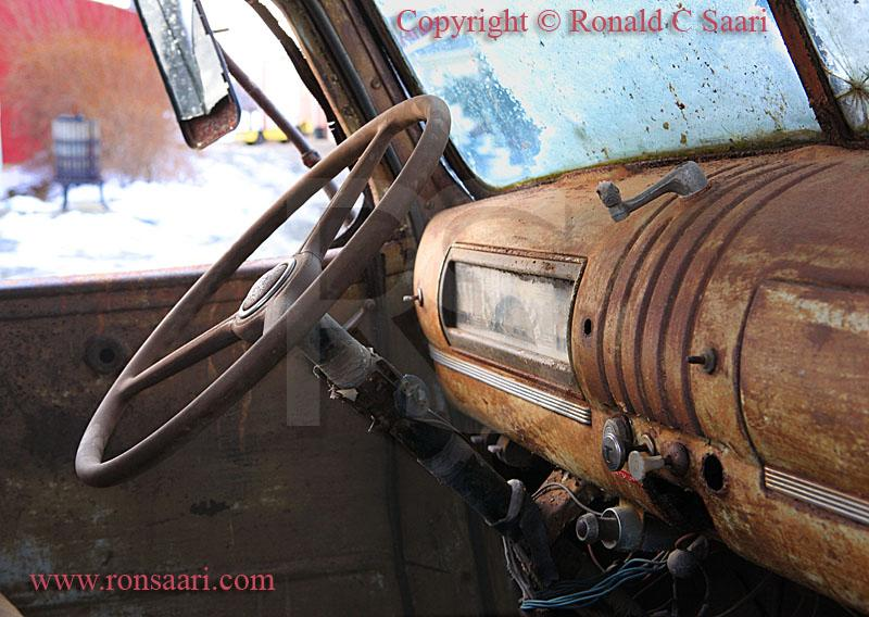 Old Truck Interior, Terhune Orchards
