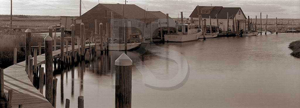 Oyster Creek Panoramic, Black & White