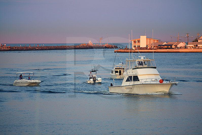 Pleasure Boats On Manasquan Inlet