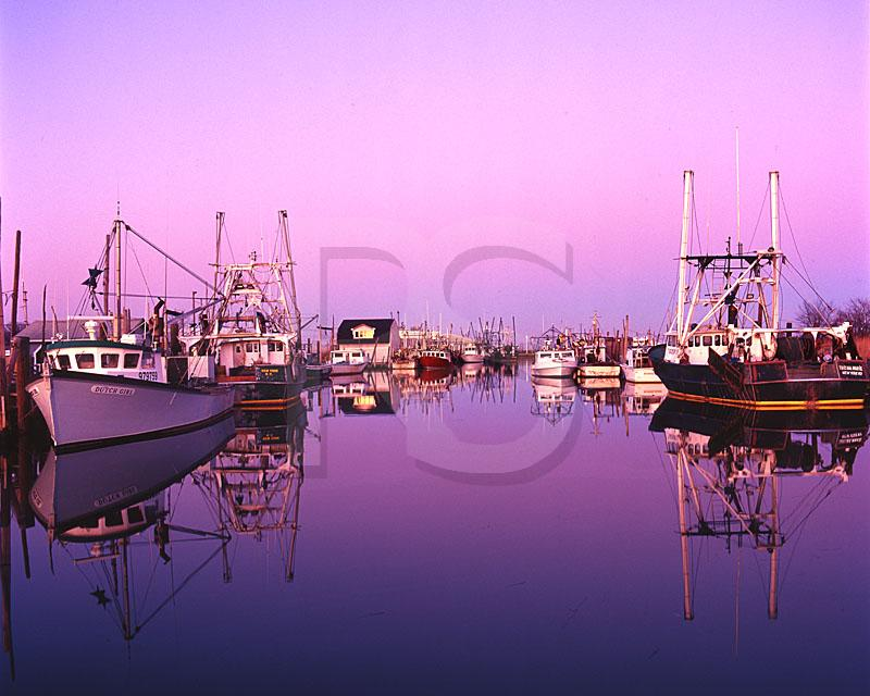 Shoal Harbor At Dusk, Belford