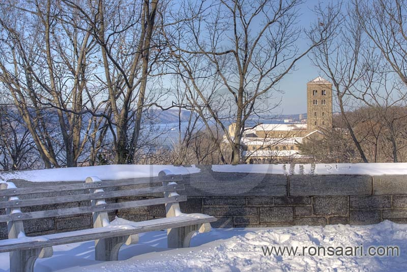 View from flagpole overlook in winter fort tyron park for 20 river terrace ny