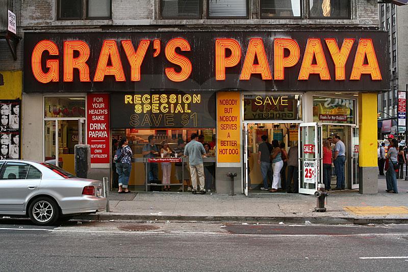 O Melhor Hot Dog de Sydney. GraysPapaya8thAvenueAnd37thStreet