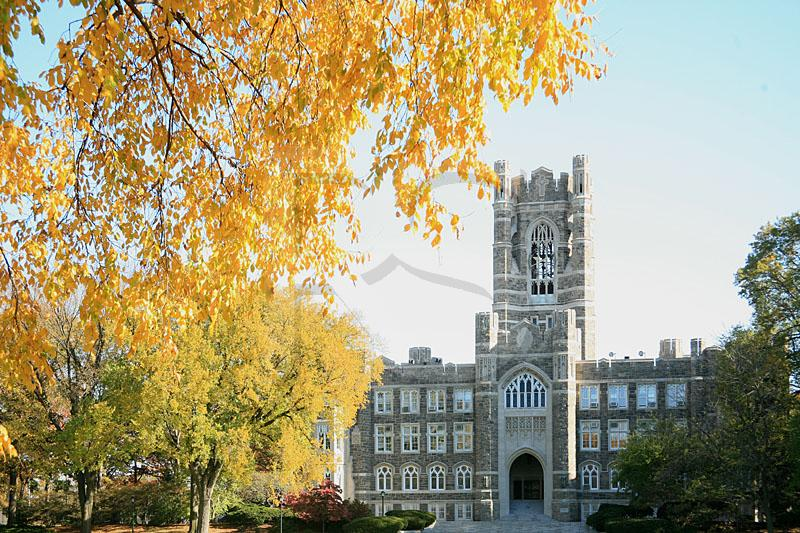 Keating Hall and Fall Color, Fordham University, Rose Hill Campus