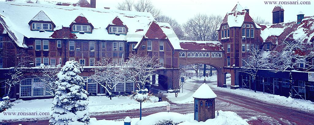 Station Square Forest Hills Winter Panoramic