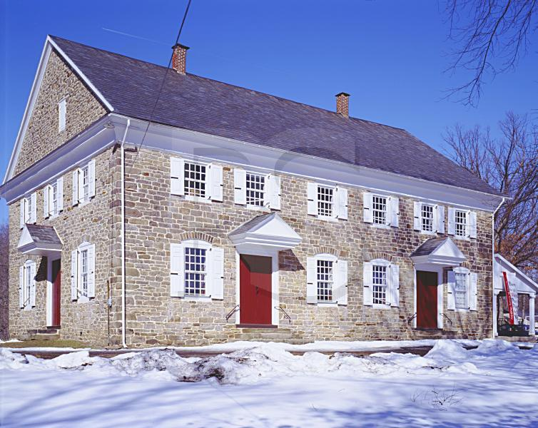 Buckingham Friends Meetinghouse, In Winter