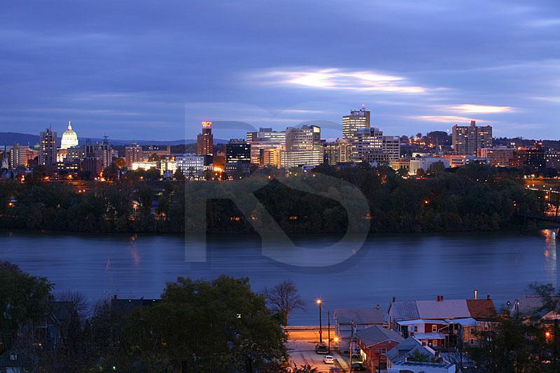 Harrisburg Skyline At Dawn 2
