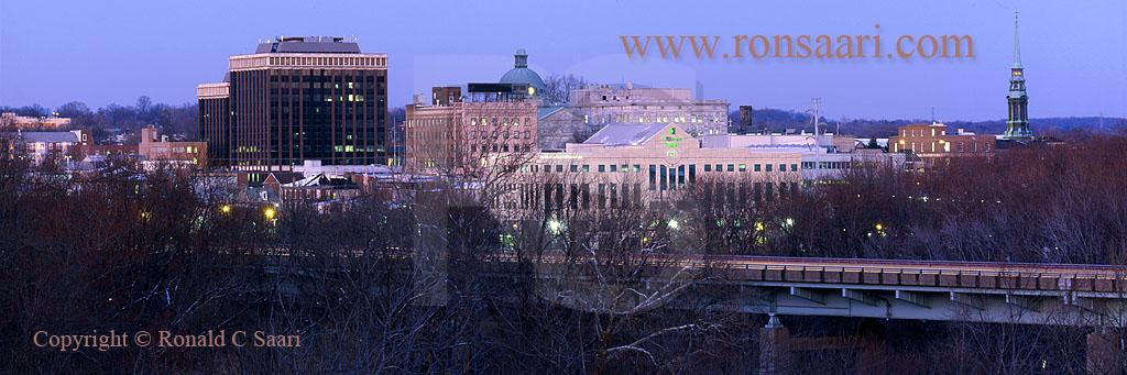 Norristown Skyline At Dusk Panoramic