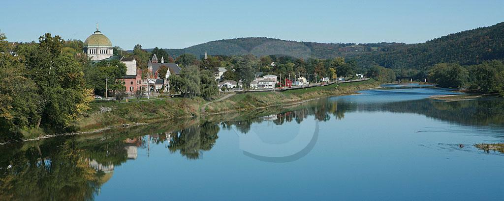 Towanda, PA and Susquehanna River Panoramic