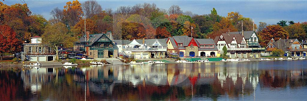 Boathouse Row in Autumn Panoramic