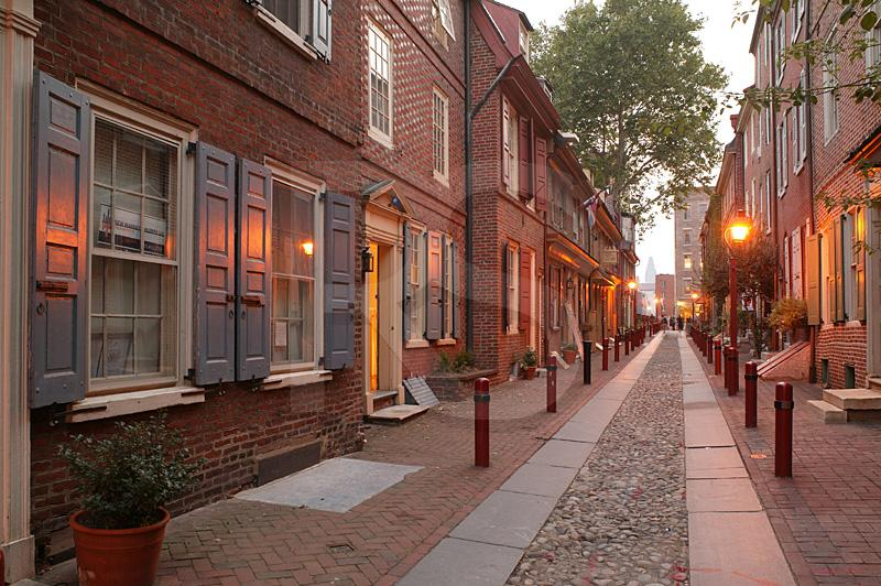 Elfreth's Alley At Twilight 1