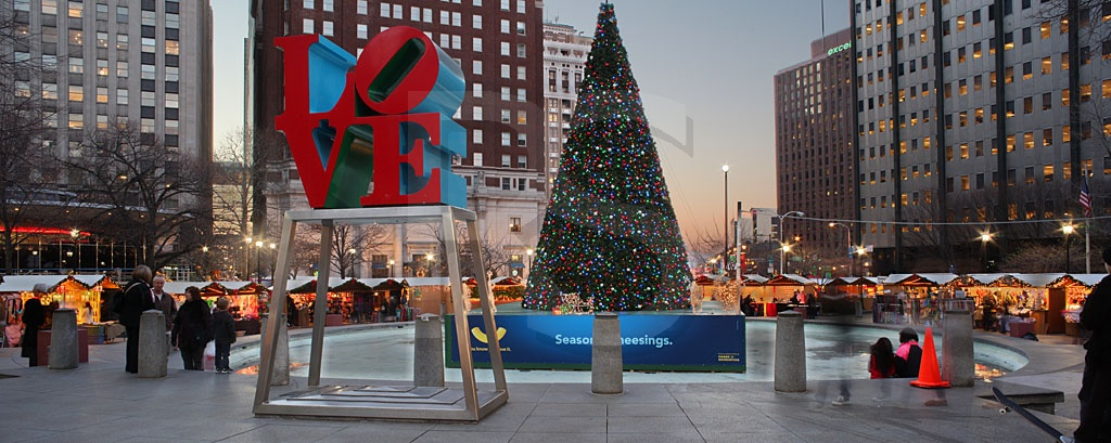 Love Park With Christmas Village