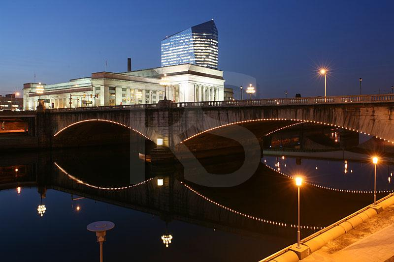 Market Street Bridge, 30th Street Station, and Cira Center 2