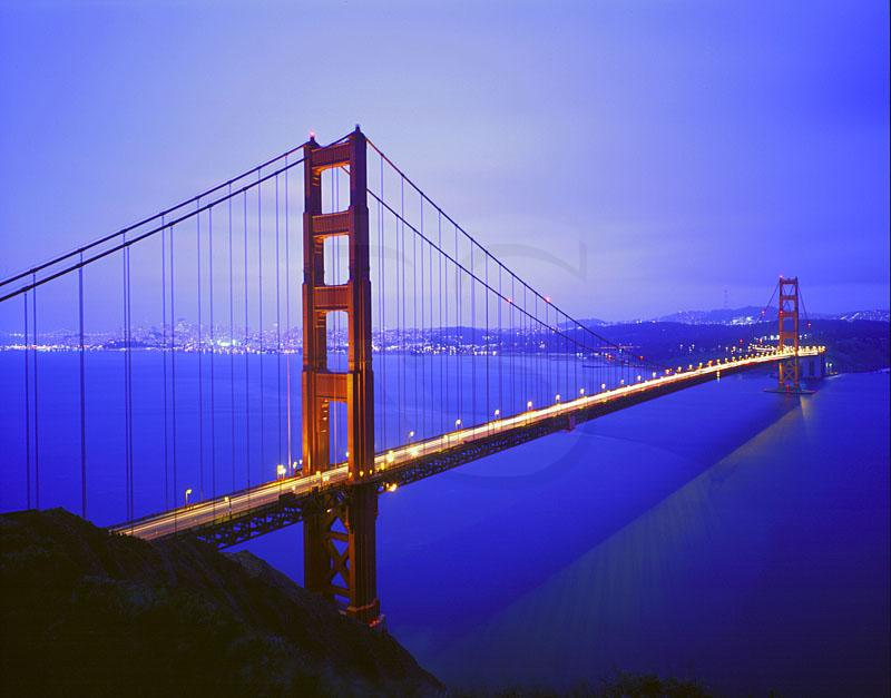 Golden Gate Bridge At Dusk 1